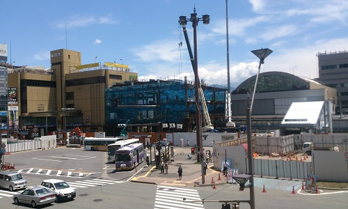長野駅ビル建設時の様子(2014/06/23)