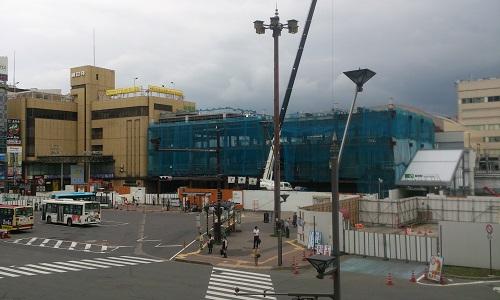 長野駅ビル建設時の様子(2014/06/30)
