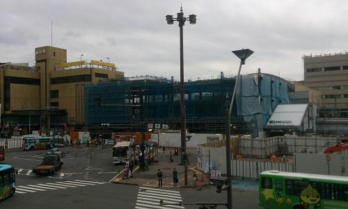 長野駅ビル建設時の様子(2014/07/07)