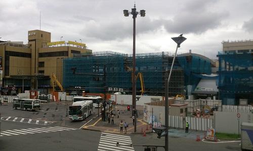 長野駅ビル建設時の様子(2014/07/14)
