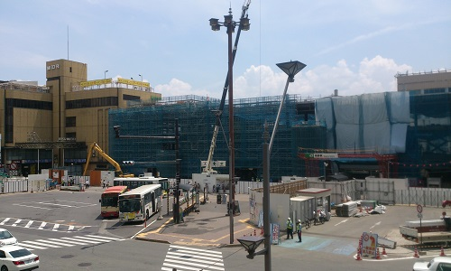 長野駅ビル建設時の様子(2014/07/22)