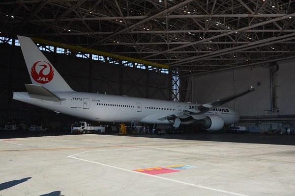JALが保有する機体の中で最も大きいB777-300ER