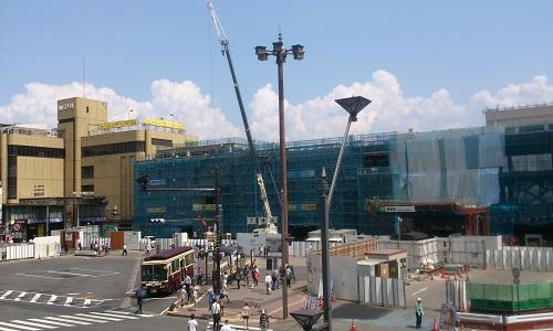 長野駅ビル建設時の様子(2014/07/31)