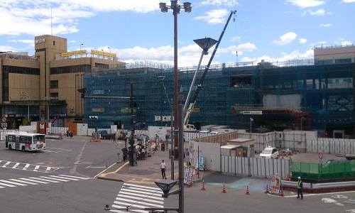 長野駅ビル建設時の様子(2014/08/05)