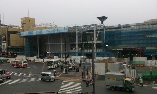長野駅ビル建設時の様子(2014/09/24)