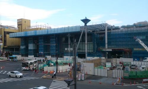 長野駅ビル建設時の様子(2014/10/02)