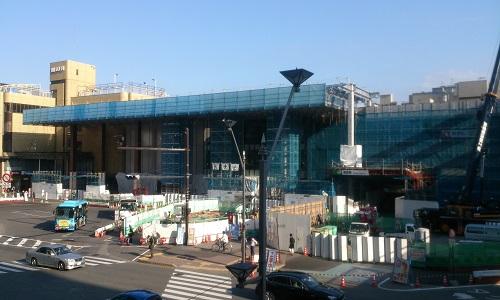 長野駅ビル建設時の様子(2014/10/09)