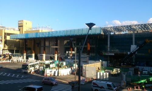 長野駅ビル建設時の様子(2014/10/16)