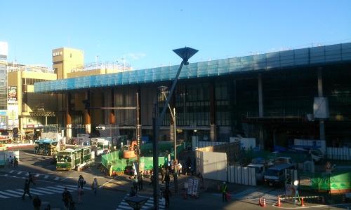 長野駅ビル建設時の様子(2014/10/25)