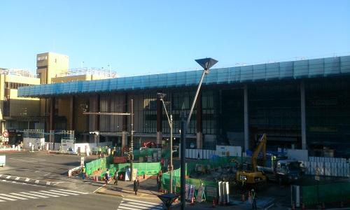 長野駅ビル建設時の様子(2014/10/30)