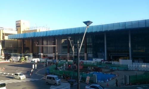 長野駅ビル建設時の様子(2014/11/05)