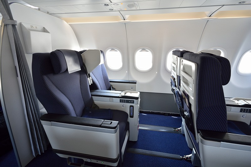 ANAのA320neoのビジネスクラス座席