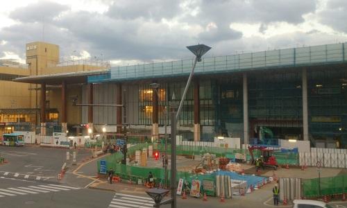 長野駅ビル建設時の様子(2014/11/14)