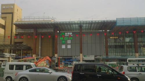 先行オープン前の長野駅ビルの様子