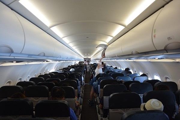 タイガーエア台湾の機内の様子