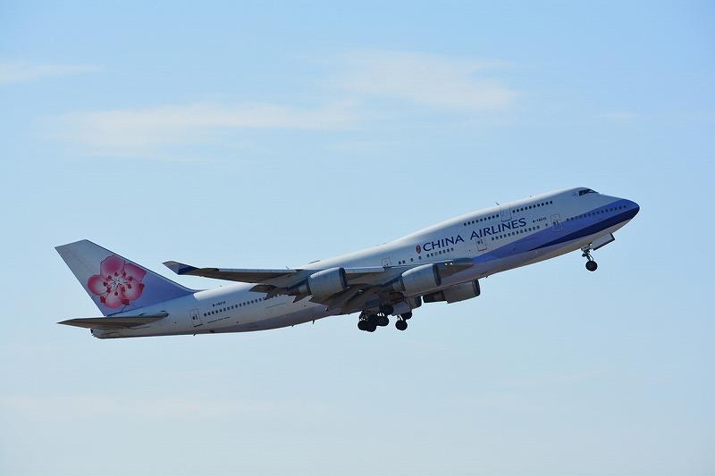 離陸するチャイナエアラインのB747-400型機