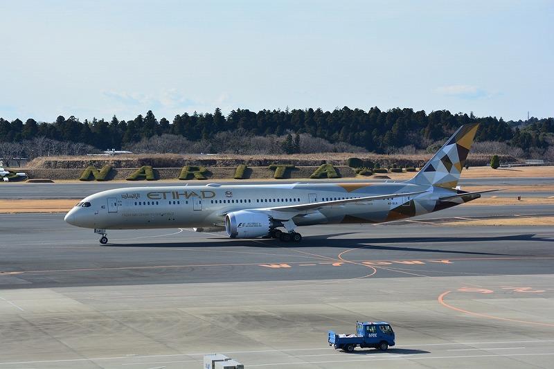 エティハド航空のB787-9型機