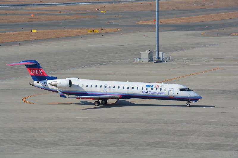 搭乗機のIBEXエアラインズCRJ700(JA06RJ)
