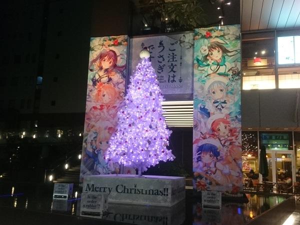 秋葉原UDX広場のごちうさツリー