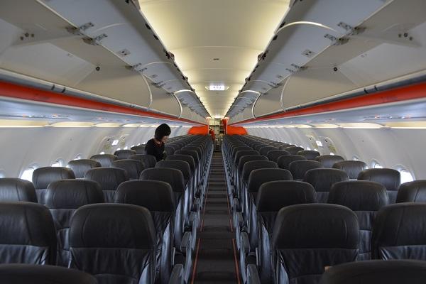 ジェットスターA320型機の機内の様子