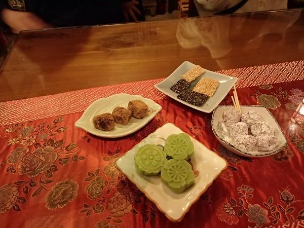 阿妹茶樓(あめおちゃ)で提供されたお茶菓子類