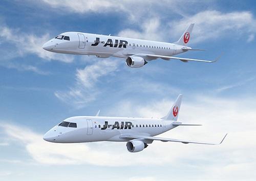 J-AIRのE190型機