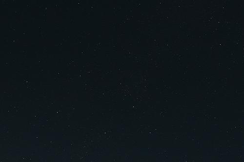 ISOを下げて撮影した星空